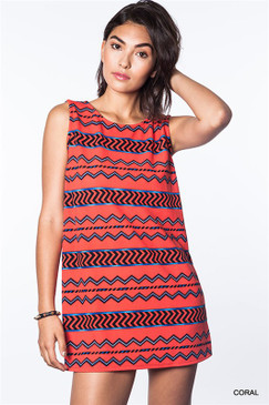 People Get Ready Tank Top Dress - Coral