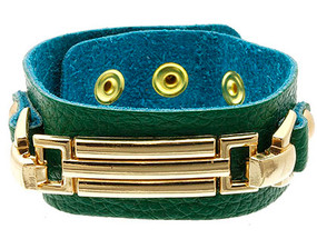 Bracelet / Leather / Clip / Metal / 1 Inch Tall / Nickel And Lead Compliant