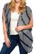 PS Plus Sleeveless Striped Cardigan