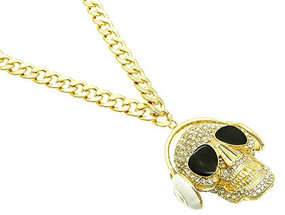NECKLACE / HEADPHONES / CRYSTAL / NICKEL AND LEAD COMPLIANT