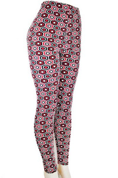Beehive Design Leggings - Coral