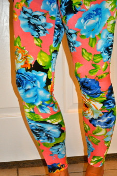 Rose and Thorn Stretch Leggings