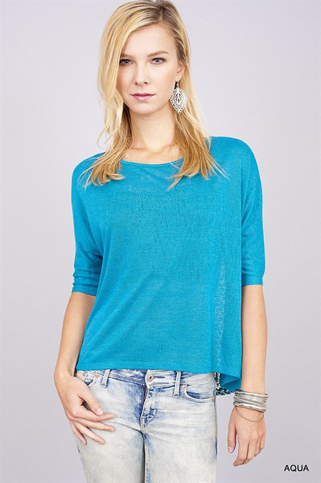 In The Midnight Hour Top - Aqua
