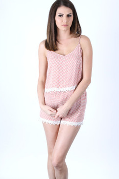 Superstar Romper - Rose