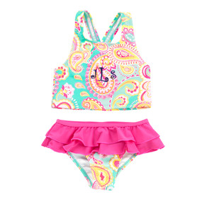 Kids Summer Paisley Swimsuit Set