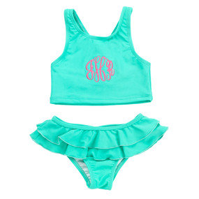 Kids Mint Swimsuit Set