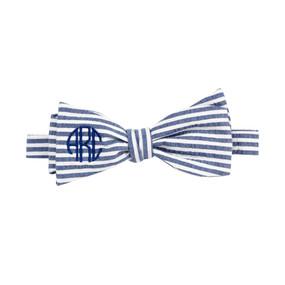Navy Seersucker Bow Tie