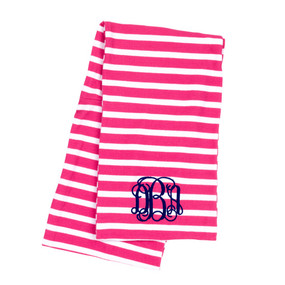 Hot Pink Stripe Scarf