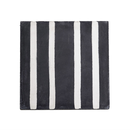 CEMENT TILE, white/black stripes by Tine K Home