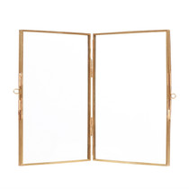 PHOTO FRAME, Standing, Glass/Brass by Hubsch