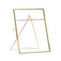 PHOTO FRAME with foot, Glass/Brass by Hubsch