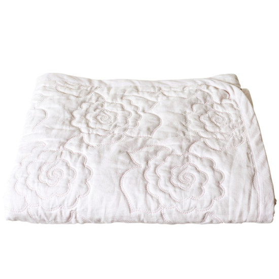 BABY COT QUILT, Linen, Camellia, Blush Pink - STYLODECO : baby cot quilt - Adamdwight.com