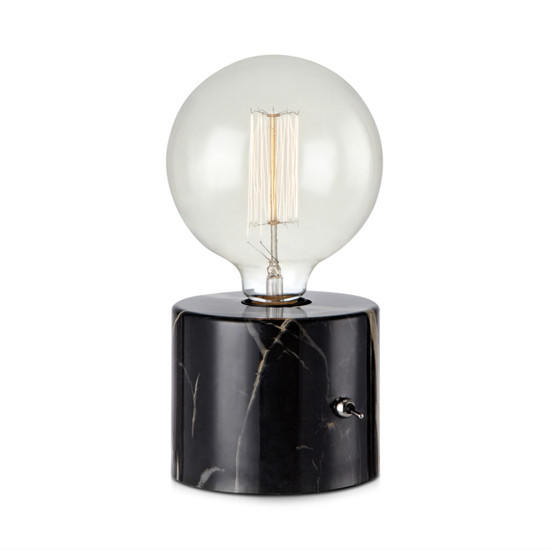 TABLE LAMP, Round, Marble, Black