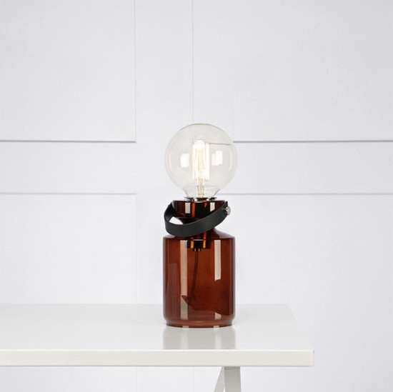 TABLE LAMP, Adrian, Brown