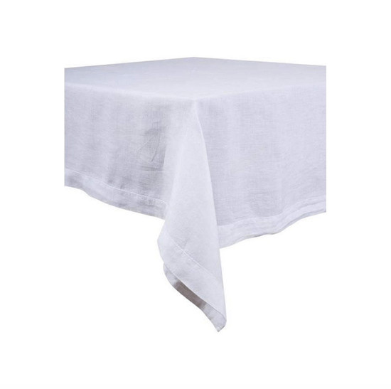 LINEN TABLECLOTH, Nais, White