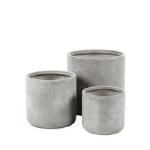 SET OF 3 POTS, Fibre Clay, Sand