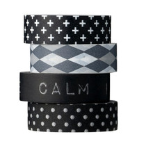 MASKING TAPE, Black & White, Set of 4