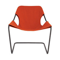 Outdoor Chair PAULISTANO, Black & Paprika