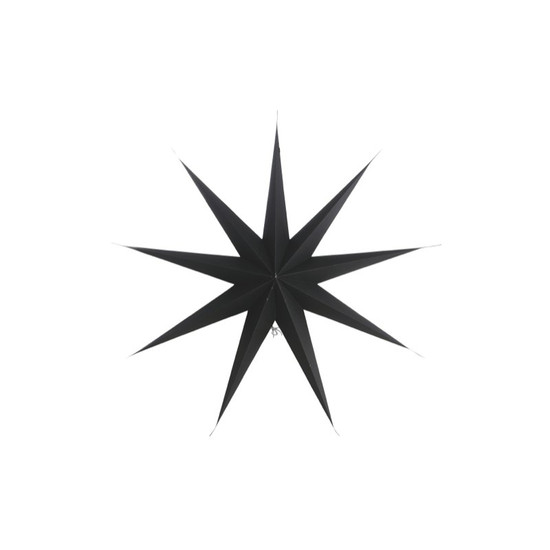 STAR, Paper, 9 points, Black, 45cm, by HOUSE DOCTOR