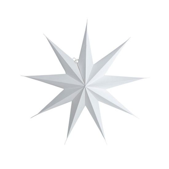 STAR, Paper, 9 points, White, 60cm, by HOUSE DOCTOR