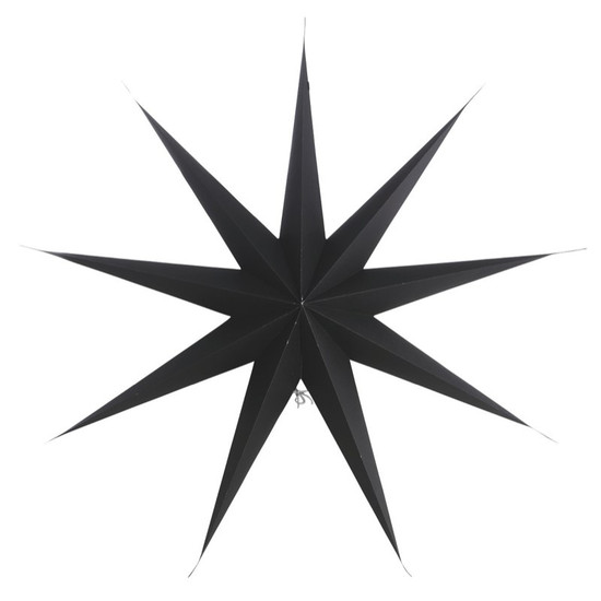 STAR, Paper, 9 points, Black, 87cm, by HOUSE DOCTOR