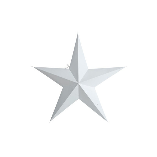 STAR, Paper, 5 points, White, 45cm, by HOUSE DOCTOR