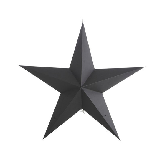 STAR, Paper, 9 points, Black, 60cm, by HOUSE DOCTOR