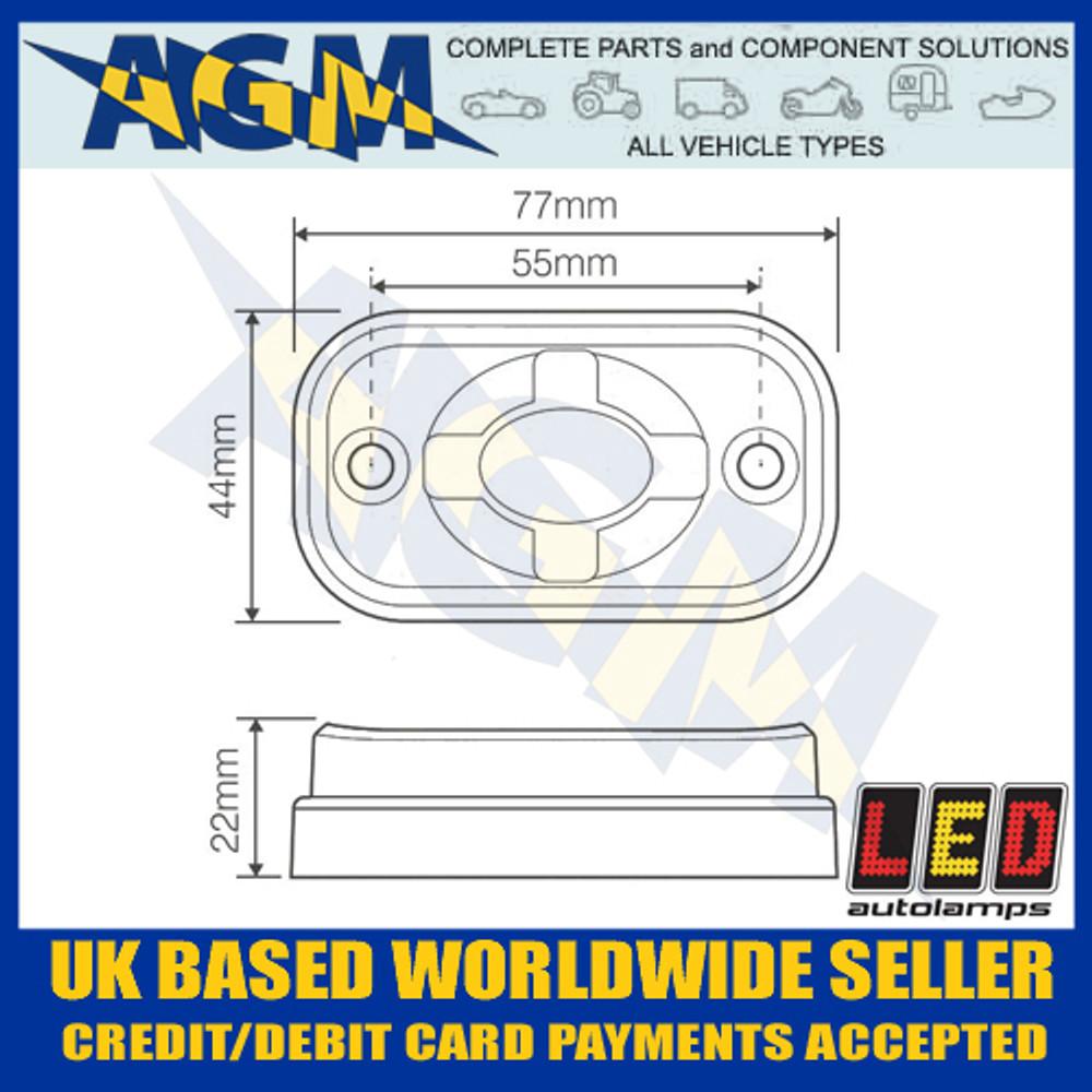 Led Autolamps 7705BM Heavy Duty Black Body Compact Flood Clearance/Scene Lamp