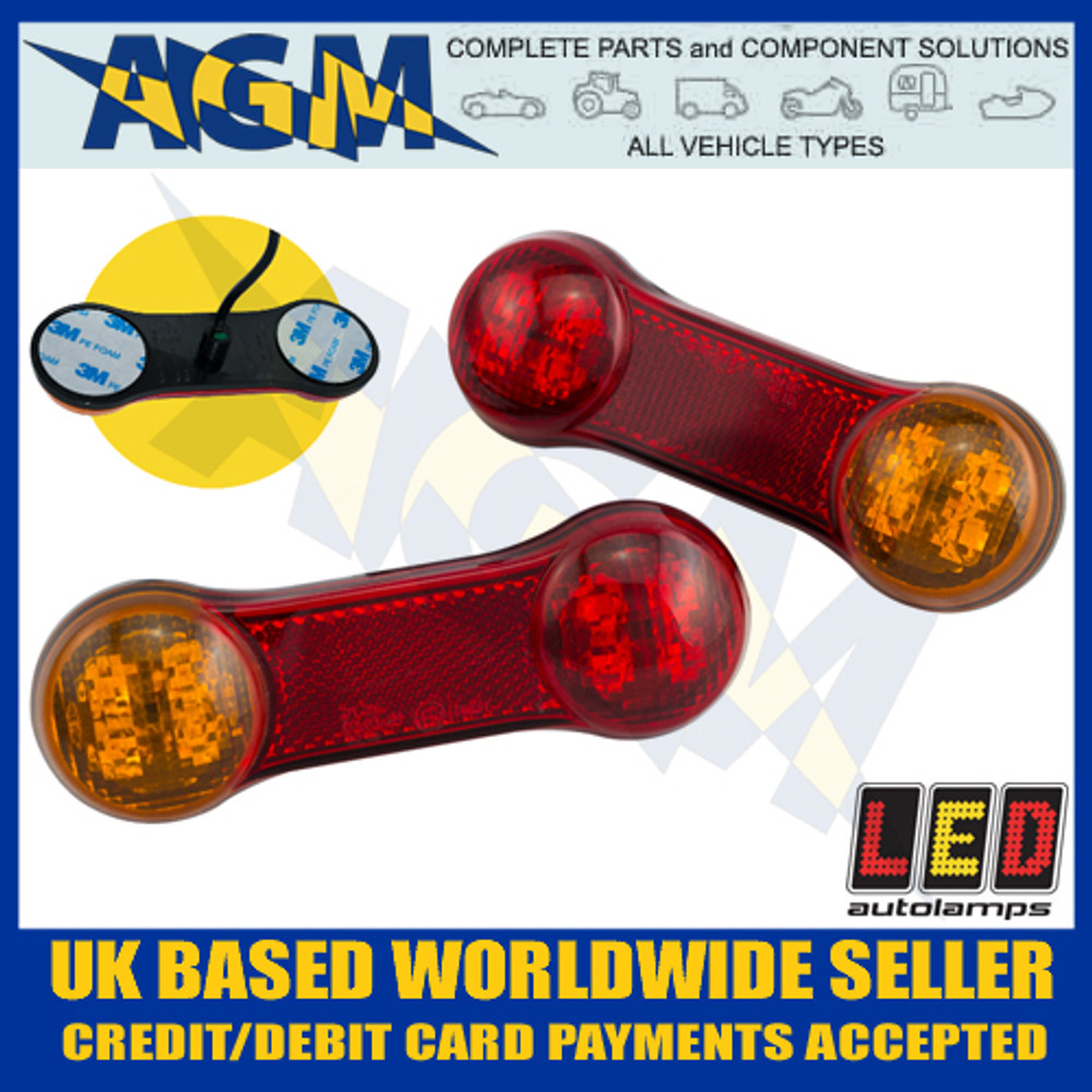 LED Autolamps DB2 Twin LED Rear Multi Function Lamps 12v
