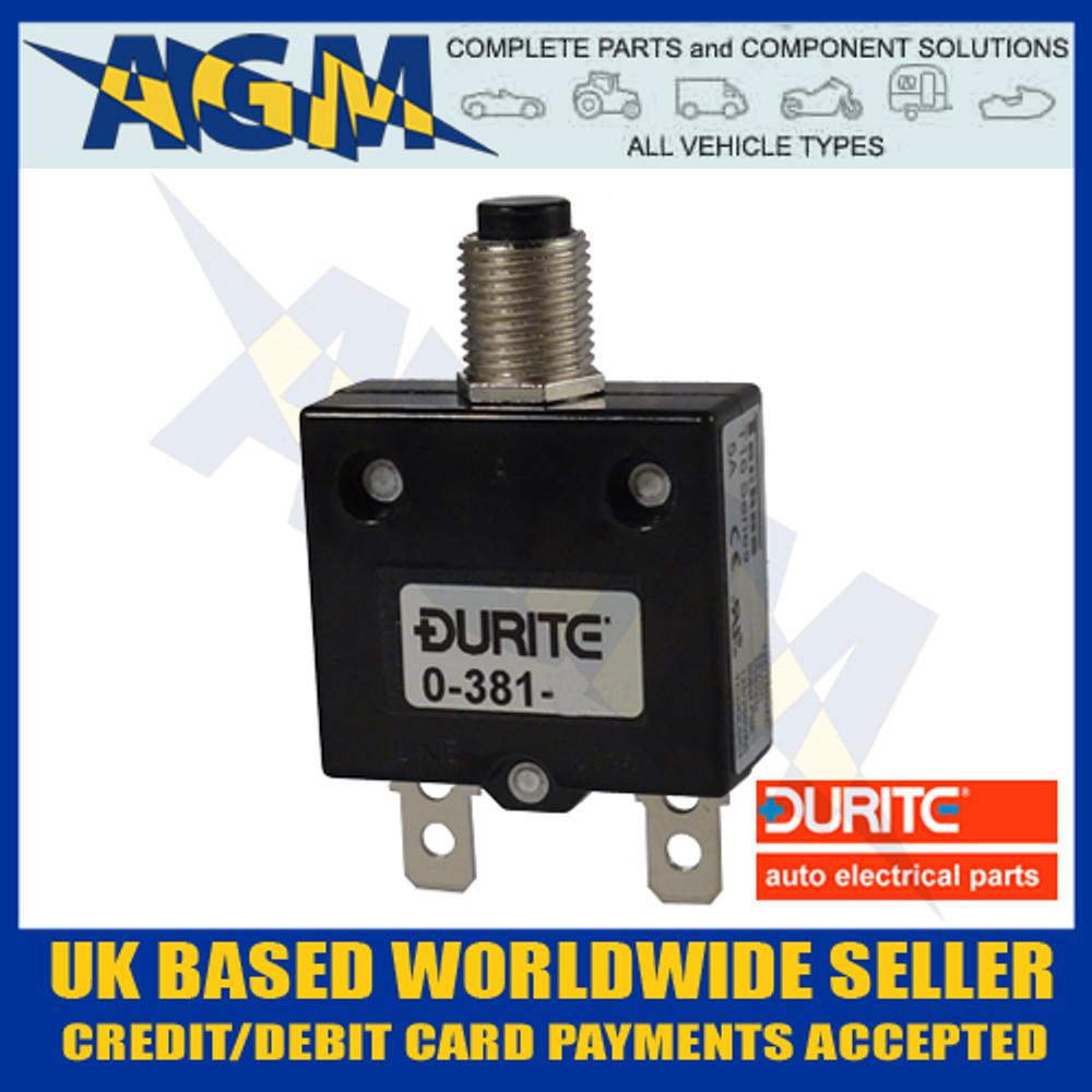 Durite 0-381-75 Circuit Breaker 25A, 12-24v