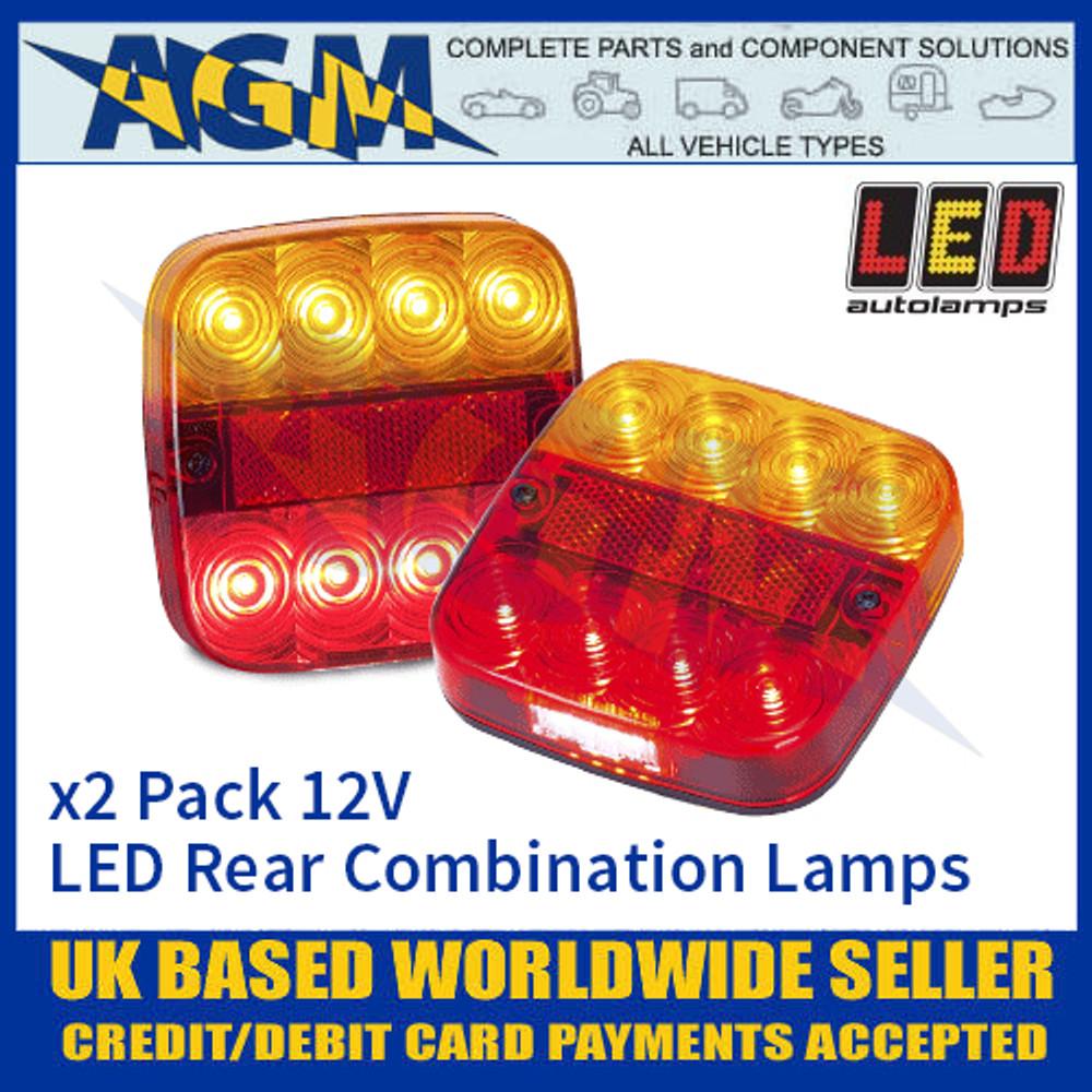 LED Autolamps 99ARL2 (x2) LED Rear Multi Function Lamps 12v
