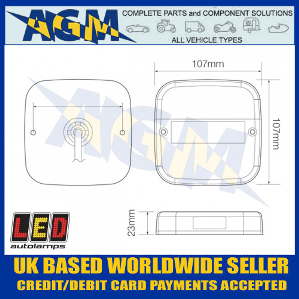 LED Autolamps 99ARL2 Dimensions