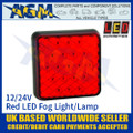 LED Autolamps 81FM LED Red Fog Light Lamp 12/24v