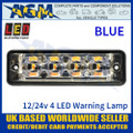 LED Autolamps SSLED4DVB Super-Slim Blue 4 Block LED Warning Lamp
