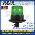 LED Autolamps EQPR10GBM-DM Green LED Warning Beacon 12v/24v Din Mount