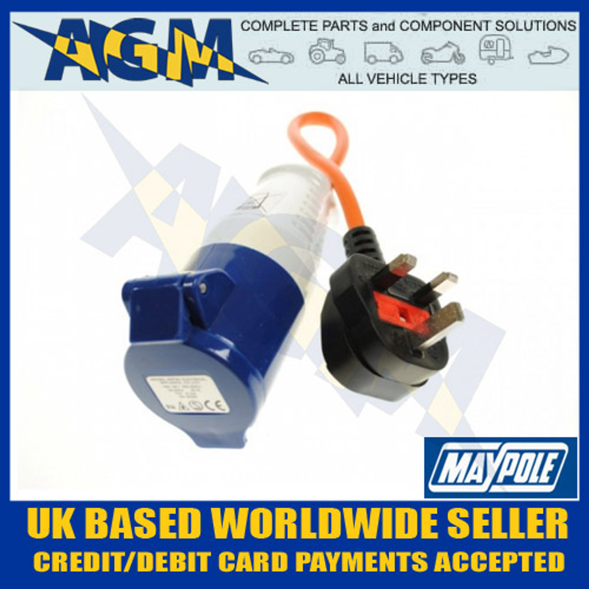 maypole 230v continental hook up lead Connect your caravan to the mains electrics with this practical 230v euro hook  up adapter from maypole easy and safe to use, this lead is ip44 rated and the.