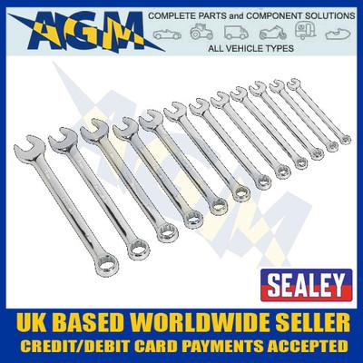 sealey, ak63012, combination, spanner, 12pc, metric, premier, range