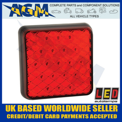 led81f, compact, slimline, rear, red, fog, lamp, light, 12v