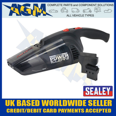 sealey, cpv72, cordless, wet, dry, rechargeable, vacuum, cleaner