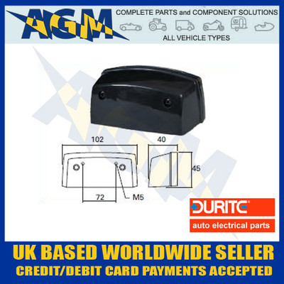 durite, 0-453-52, 045352, vehicle, registration, number, plate, lamp, 12v, 24v