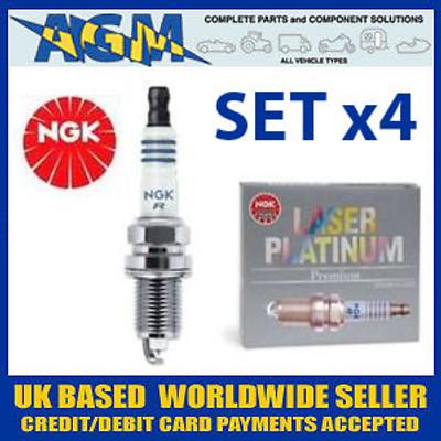 Set of 4 NGK Laser Platinum Spark Plugs: PTR5A-10 (5055)