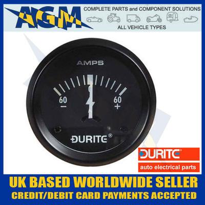 durite, 0-523-51, 052351, marine, illuminated, 12v, dash, ammeter