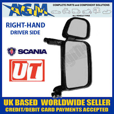 SCANIA 4 & R Series Complete RH Driver Side Mirror Assembly