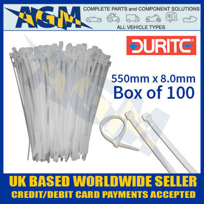 durite, 0-002-38, 000238, white, nylon, cable, ties