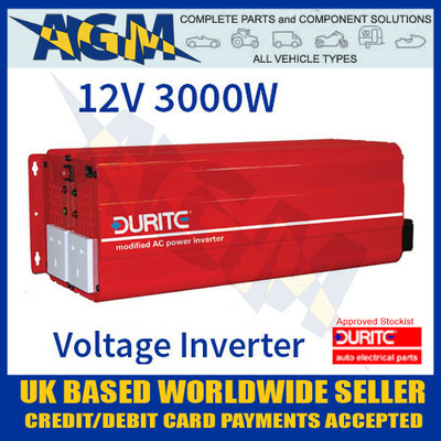 durite, 0-856-30, 085630, 12v, 3000w, 3kw, modified, wave, voltage, inverter