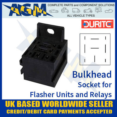 durite, 0-729-00, 72900, bulkhead, socket, flasher, relay