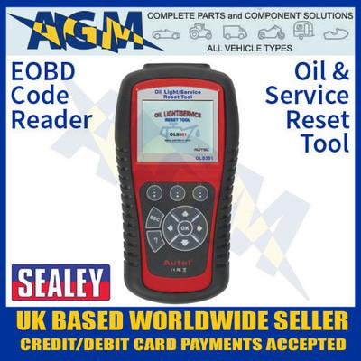 eobd, code, reader, oil, service, reset, tool, ols301, sealey
