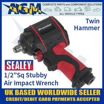 "SA6002S Air Impact Wrench 1/2""Sq Drive Stubby Twin Hammer"