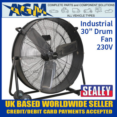 "HVD30 Industrial High Velocity Drum Fan 30"" 230V"