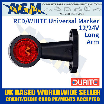 durite, 0-172-25, 017225, red, white, universal, led, outline, marker, lamp, 12v, 24v
